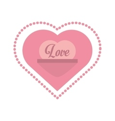 Love heart message frame dots vector