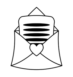 love letter isolated icon vector image vector image