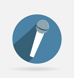microphone Circle blue icon with shadow vector image