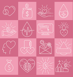 Money and blood donation vector