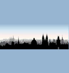 Prague city chezh skyline view cityscape with vector