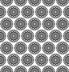 Repeating black white ornament pattern vector image vector image