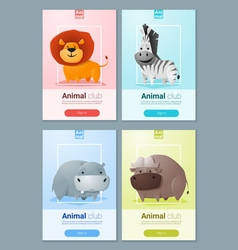 Set of Wild animal templates for web design 1 vector image