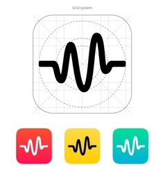 Sound wave icon vector