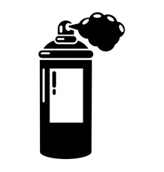 spray paint icon simple black style vector image