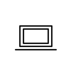 thin line laptop icon vector image