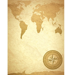 vintage grunge Travel Background vector image vector image