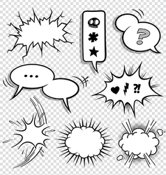 0030 Comic Elements set2 vector image vector image