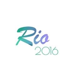 Brazil summer 2016 rio de janeiro banner vector