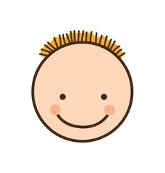 happy child face icon image vector image