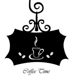 coffee signboard vector image