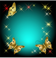 Butterflies and stars vector