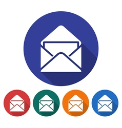 Open envelope icon vector