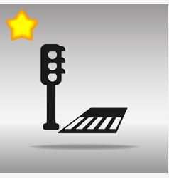 crosswalk black icon button logo symbol vector image