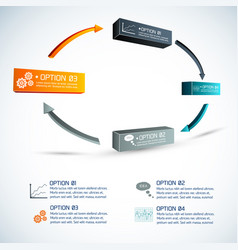 circle of options infographics vector image