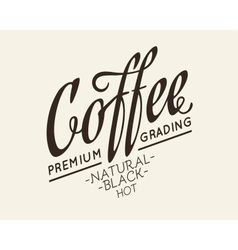 Calligraphic lettering design vector
