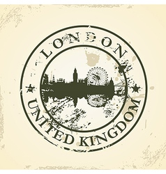 Grunge rubber stamp with london united kingdom vector