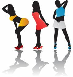 girl figures vector image
