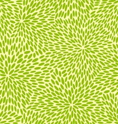 Seamless green leaves vector image