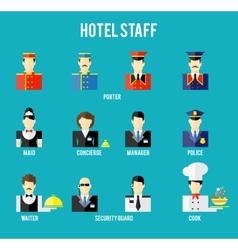 Hotel staff vector