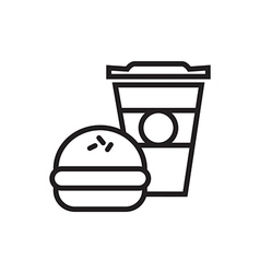 Fast food icon outlined vector