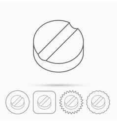 Tablet icon medicine drug sign vector