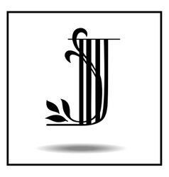 Letter j made with leaves vector