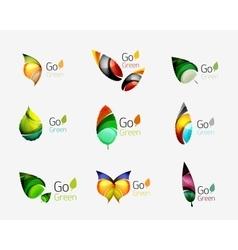 Set of leaf logos vector image