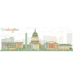 Abstract washington dc skyline vector