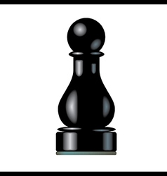 Black chess pawn vector