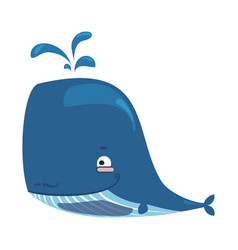 cartoon whale lovely baby whale vector image