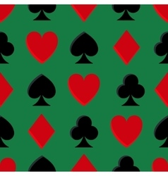 Casino poker seamless pattern vector image vector image