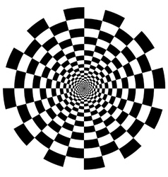Chequer board circular tunnel vector