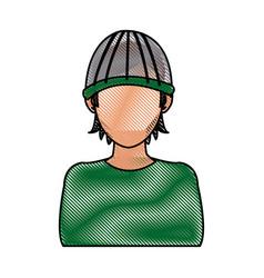 Drawing character hacker crime software computing vector