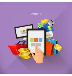 E-commerce and payments flat design Set i vector image