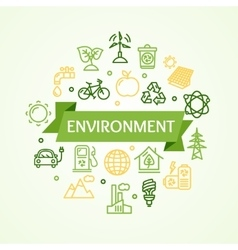 Ecology Environment Concept Card vector image vector image