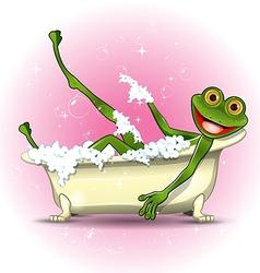 Frog in a bath vector