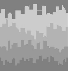 grey city skyline seamless vector image vector image