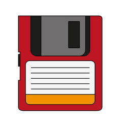 magnetic diskette icon vector image