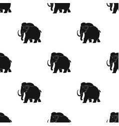 mammoth icon in black style isolated on white vector image vector image