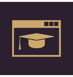 Online education icon design education vector image