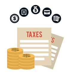 pay taxes vector image vector image