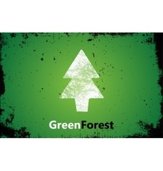 Pine logo design green forest logo grunge logo vector