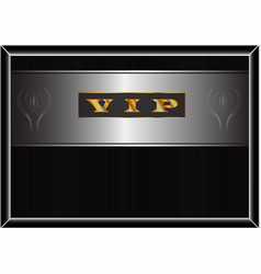 poster with a gold inscription vip vector image vector image