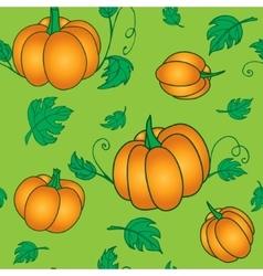 Pumpkins seamless pattern vector image vector image