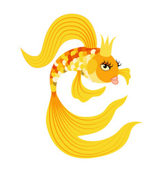 queen gold fish from a fairy tale vector image