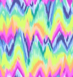 Rainbow chevron ikat pattern vector