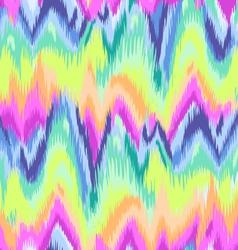 rainbow chevron ikat pattern vector image vector image