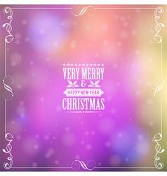 Retro Christmas Frame vector image