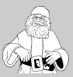 santa claus standing vector image vector image